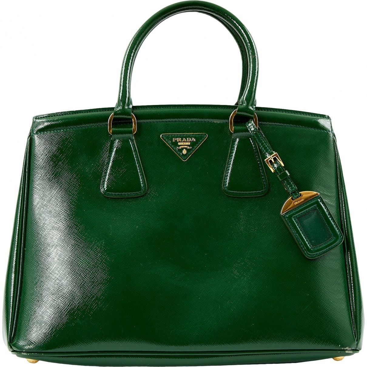 b7c264578056 green Plain Patent leather PRADA Handbag - Vestiaire Collective   patentleatherhandbags
