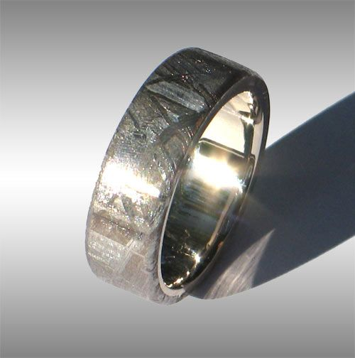 Fabulous Gibeon Meteorite Ring Style adam us wedding band