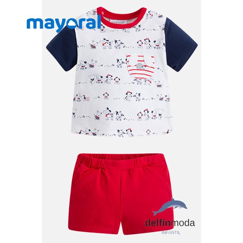 e2eb58b456d Conjunto playero de bebe niño MAYORAL camiseta perritos