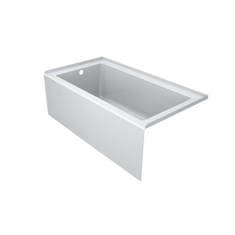 Jacuzzi Sol60-in White Acrylic Skirted Bathtub with Right-Hand Drain ...