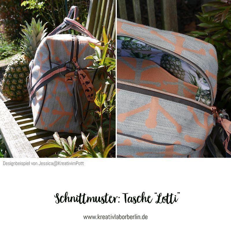 "Photo of Bag ""Lotti"" sewn by Jessica @ KreativImPott #stricken ideen mit reste #st …  -…"