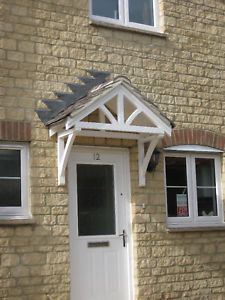 Front door canopy porches wooden roof kit Traditional DIY