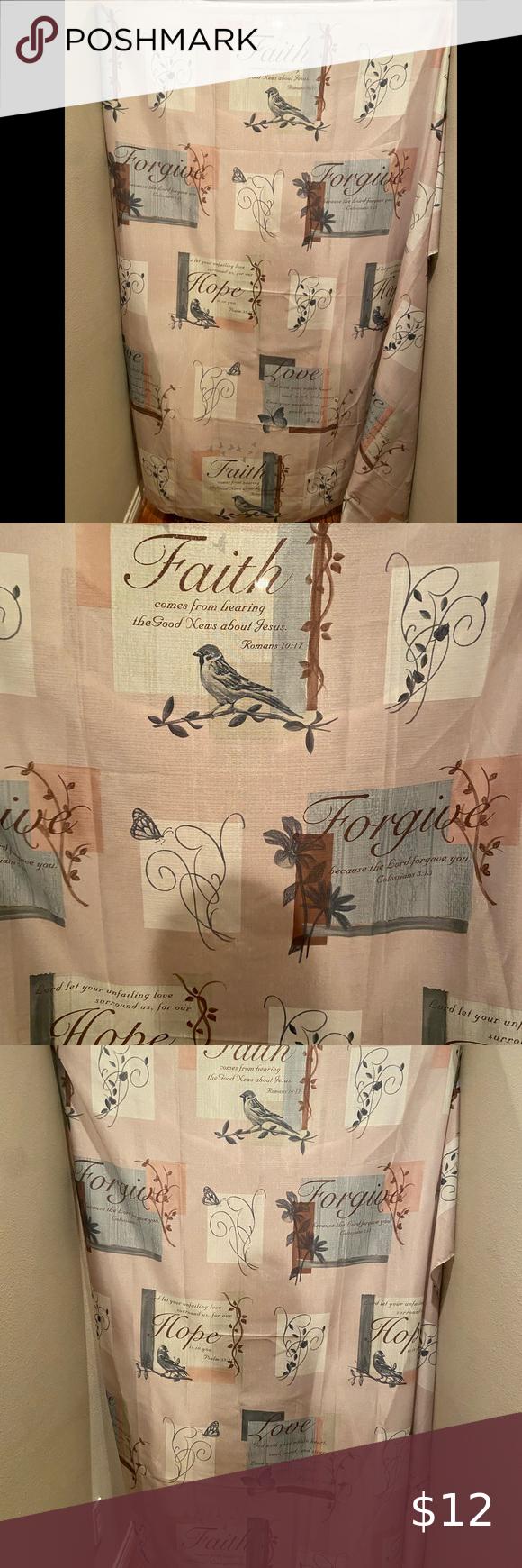 faith love hope forgive polyester
