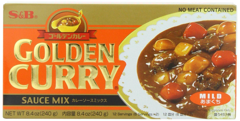 Amazon Com S B Golden Curry Sauce Mix Mild 8 4 Ounce Grocery Gourmet Food Curry Sauce Golden Curry Curry