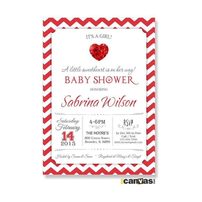 Valentine Baby Shower Invitation Valentine S Day Party Invitations