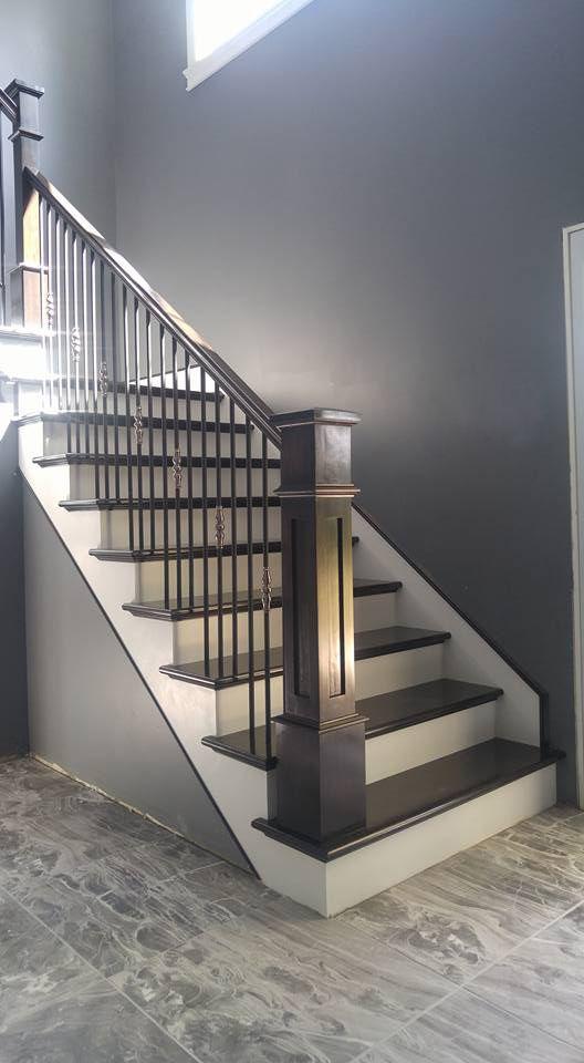 Best Stairway Type Open One Side Left Miter Interior Stair Railing Stair Railing Design Staircase 400 x 300