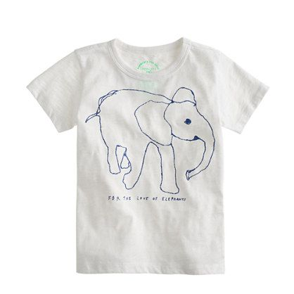 c371c3b5bd021c Girls  crewcuts for David Sheldrick Wildlife Trust elephant tee    short-sleeve tees