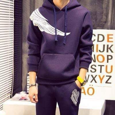 ترنج Wings رجالى ميلتون تقيل Fashion Hoodies Sweatshirts