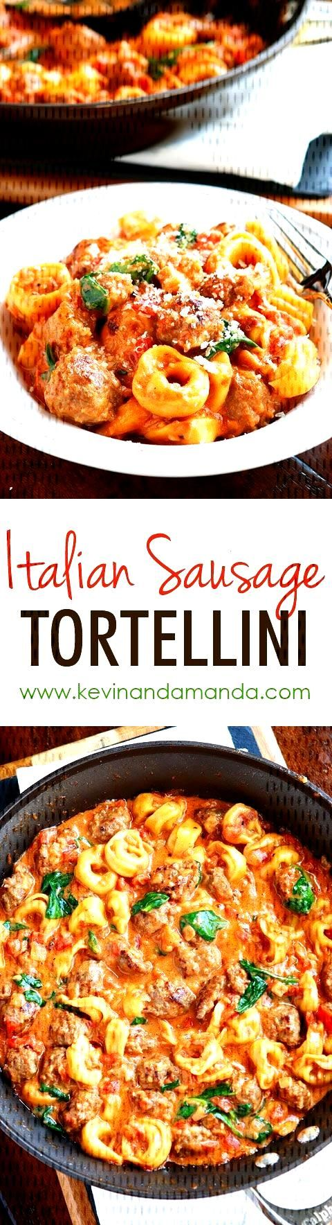 This Italian Sausage Tortellini is made with cheese tortellini and fresh Italian sausage in a homem