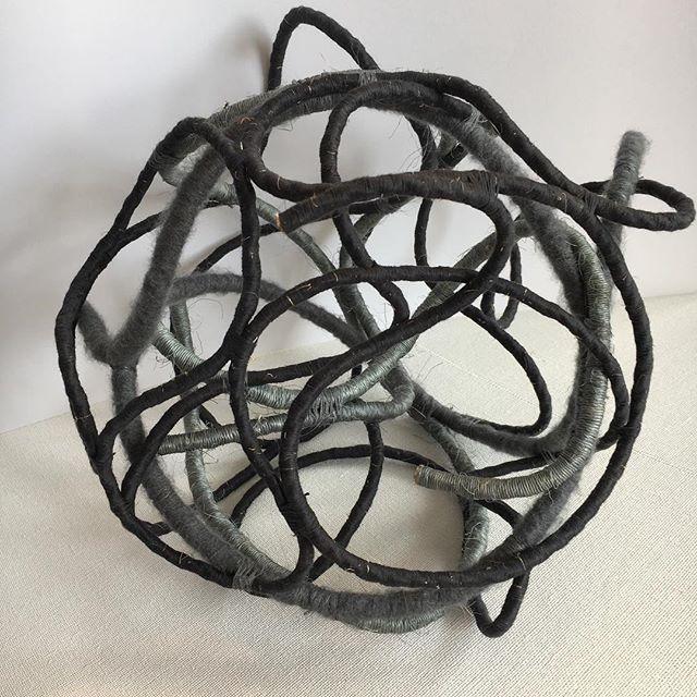 #Fiber #Fiber #rope #sculpture #art #experimenting