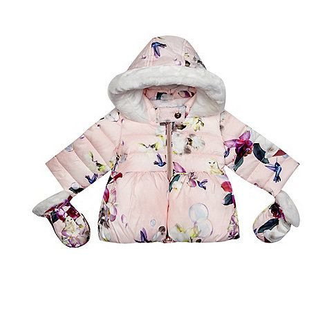 9c8636053cf31b Baker by Ted Baker Baby girls  pink bird print coat