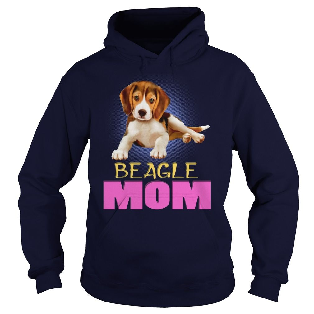 Beagle Puppy Laying Mom