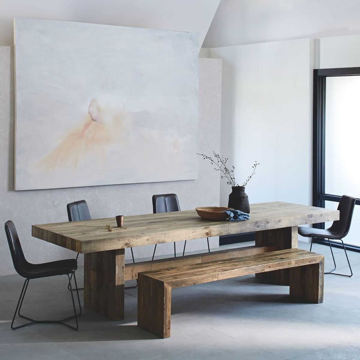 Emmerson Reclaimed Wood Dining Table Reclaimed Wood Dining