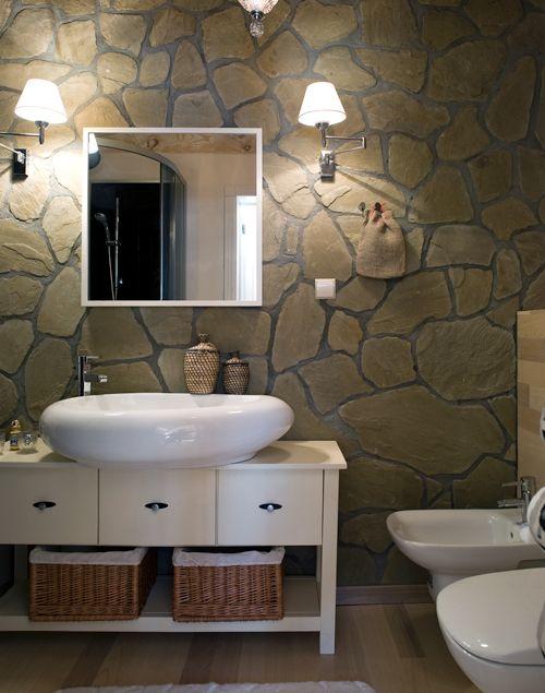 El ba o r stico moderno y con dise o la simpleza de los for Muebles de bano de madera rusticos