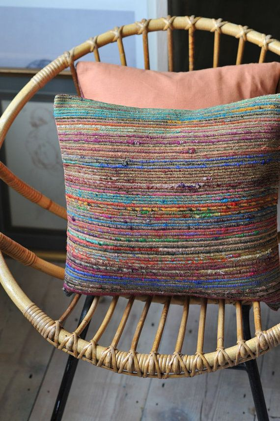 We love these multicolour woven silk cushions. Perfect for adding colour and style to any room.   www.ouseko.com