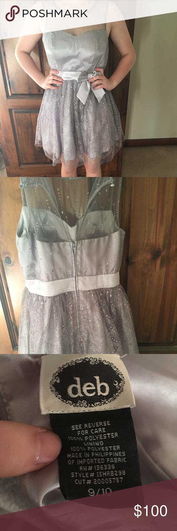 Silver dress can be used for any event