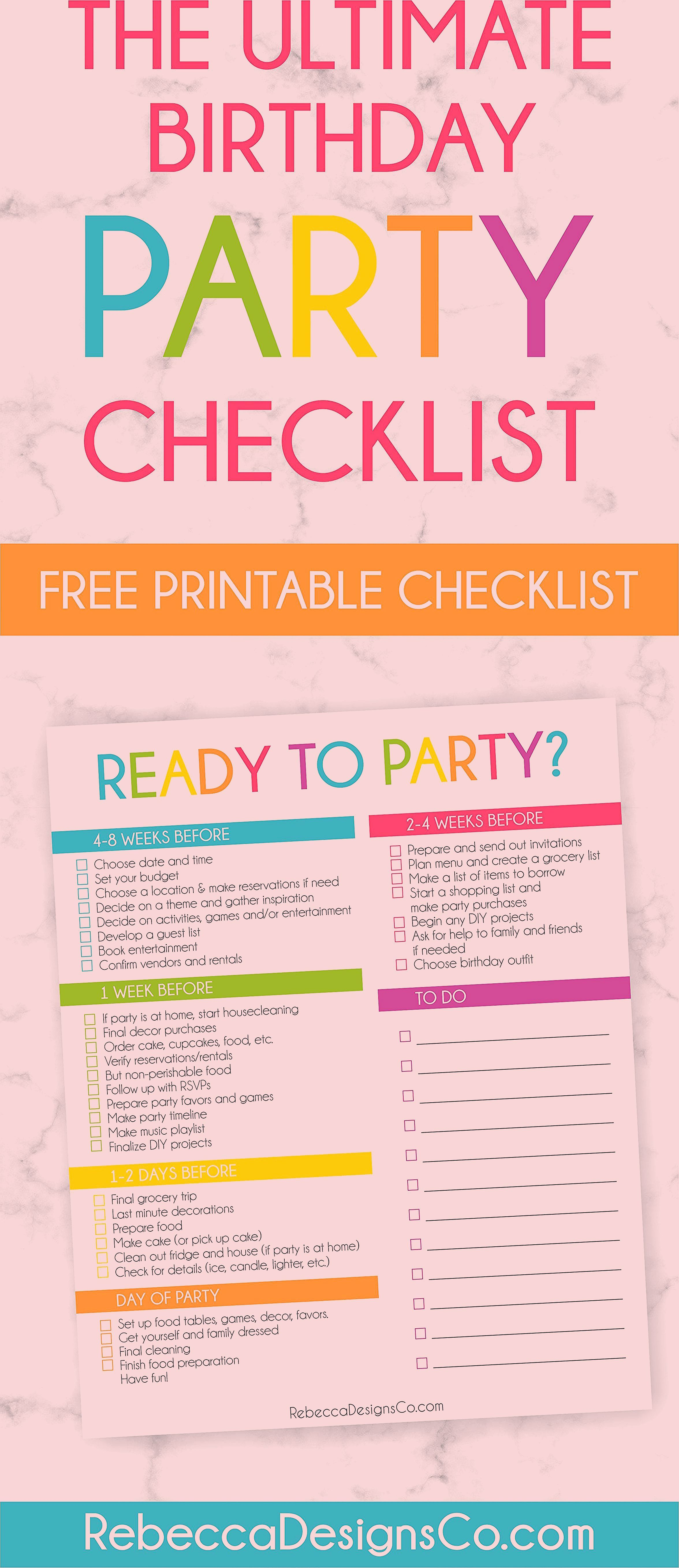 Photo of Ready to Party? Free Printable Birthday Party Planning Checklist!