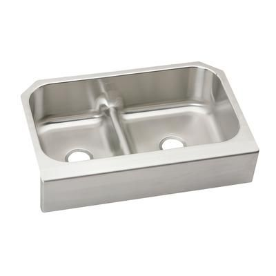 WESSAN - Double Bowl Undermount - 23.0625 Inch x 34.625 Inch x ...