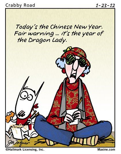 maxine chinese humor quotes happy lady funny cartoons saturday dragon years july 4th celebration cartoon acid miss another aunty bing