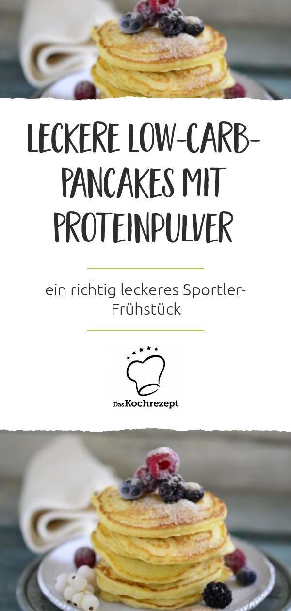 Leckere Low-Carb-Pancakes mit Proteinpulver