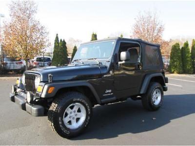 EBay: 2005 Jeep Wrangler Sport 2005 Jeep Wrangler Sport 4X4 Black Low Miles  1 Owner