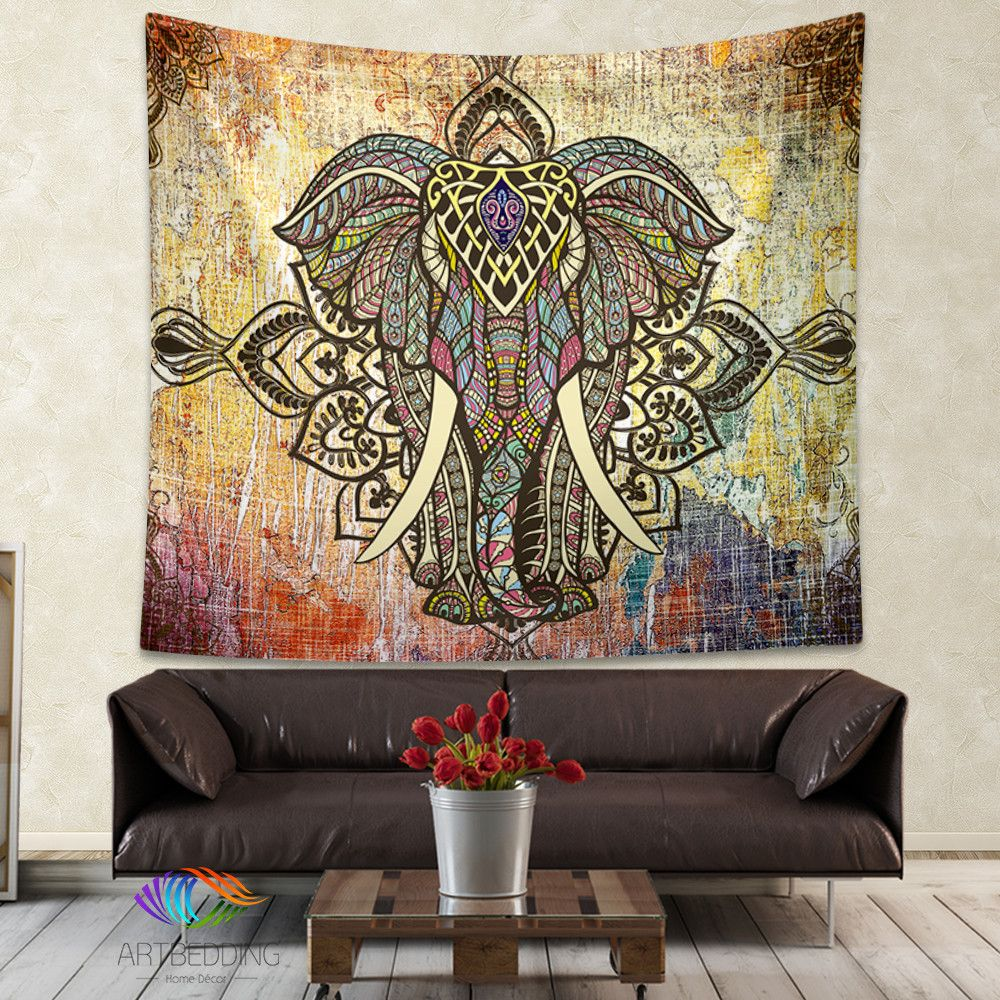 Elepahnt Tapestry, Bohemian wall tapestry, Hippie tapestry ...