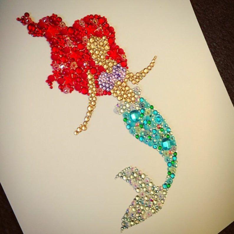 Disney the little mermaid wall art baby shower ariel gift