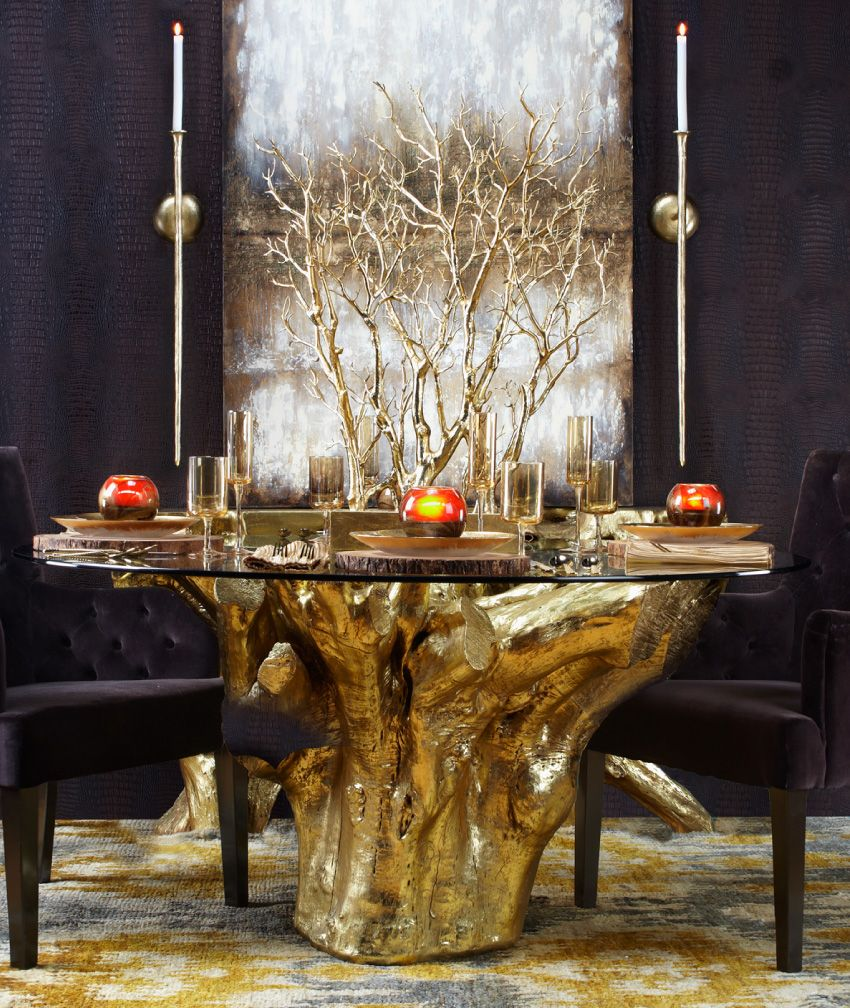 New Arrival Carefully Cast From The Unearthings Of An Acacia Tree Our Sequoia Dining Table Brings Sculptural