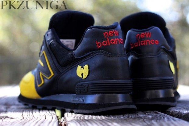 "New Balance 574 ""Wu-Balance"" Custom | Sneakers fashion, Dress ..."