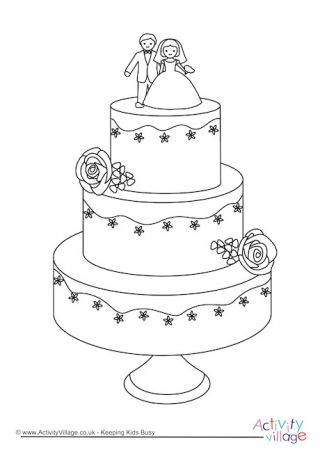 Wedding Cake Colouring Page Wedding Coloring Pages Wedding Cake Drawing Wedding With Kids