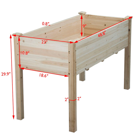 Topeakmart Solid Wood Raised Garden Bed Rectangle Elevated Planter Grow Plants Natural Wood -   18 diy Wood garden ideas