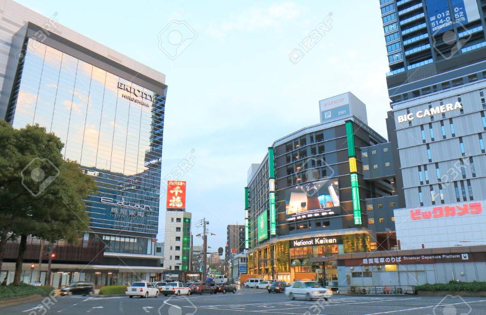 広島県 - 2017 年 3 月 18 日: 広島市ダウンタウンの街並み 写真素材 - 77863537