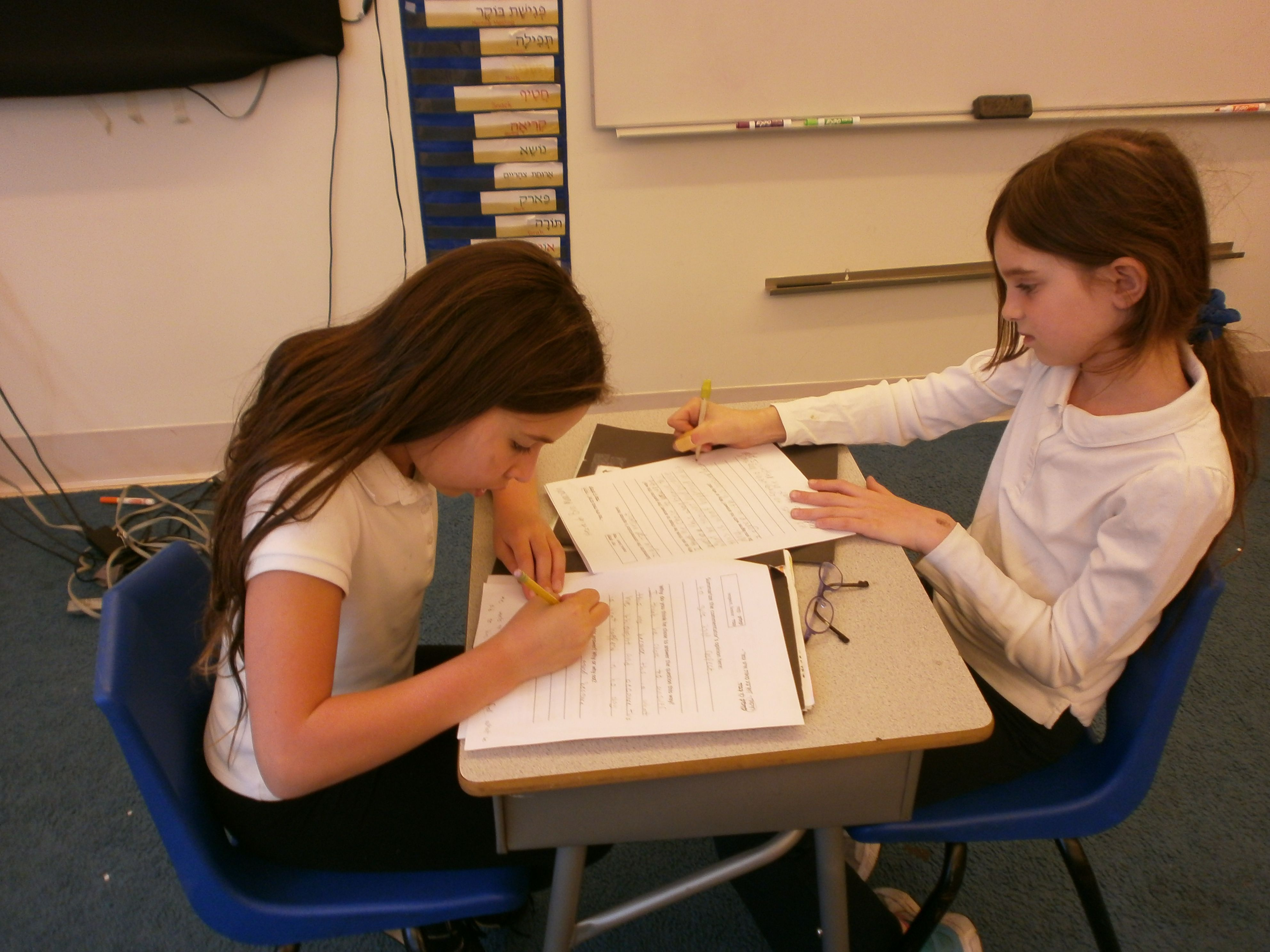 Students Work In Chevrutot As They Are Introduced For The First Time To Parshanut Torah Commentary Student Work Student Drafting Desk