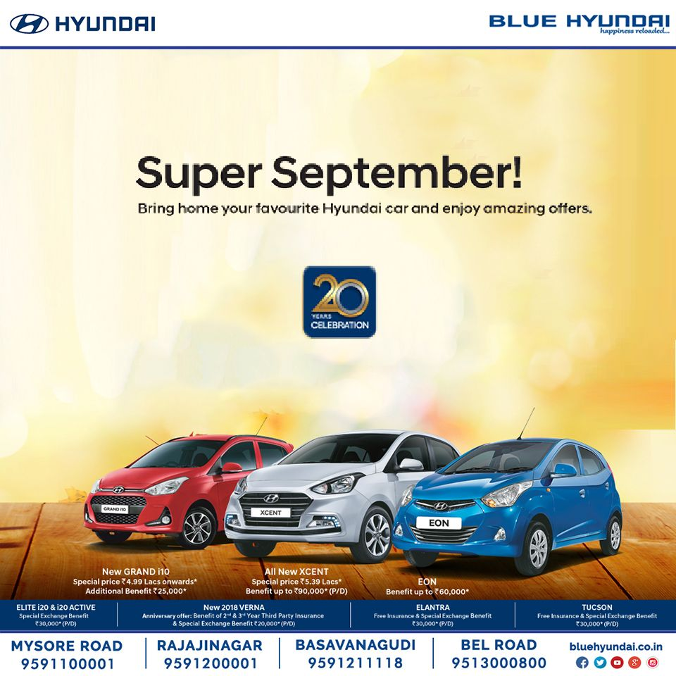 Grab The Super September Offers On Your Favourite Hyundai Cars