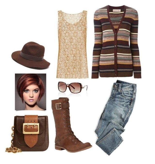 """""""Untitled #958"""" by mountain-girl-lynn ❤ liked on Polyvore featuring Marni, Burberry, Timberland, White House Black Market, maurices and Gottex"""