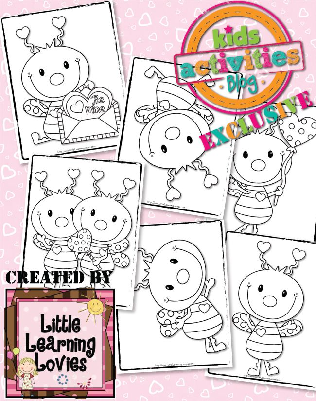EXCLUSIVE} LOVE BUG COLORING PAGES – FREE! | Coloring Pages ...