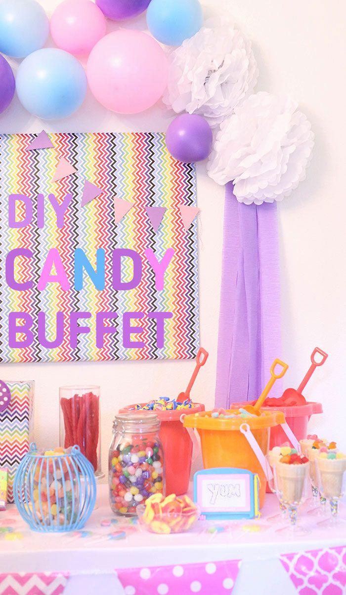 Whimsical Diy Candy Buffet Ideas Diy Candy Buffet Easy Diy