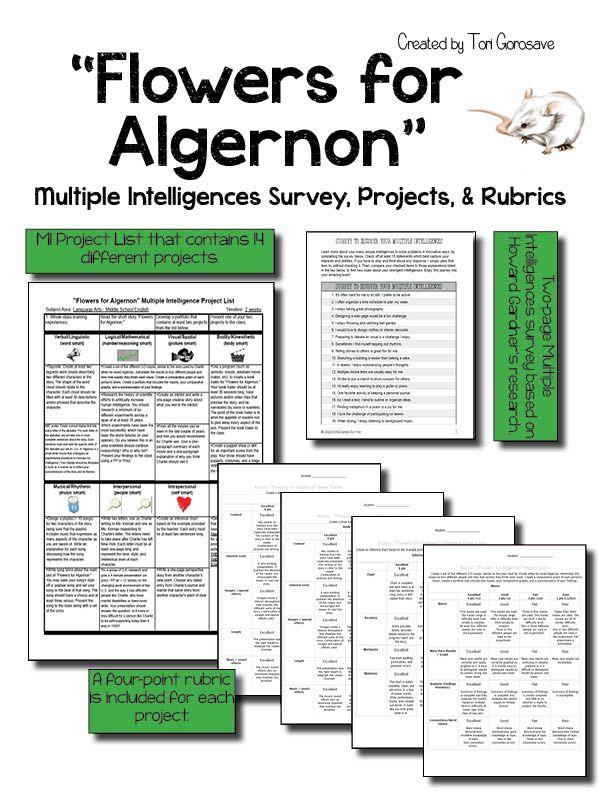Flowers for Algernon - project list