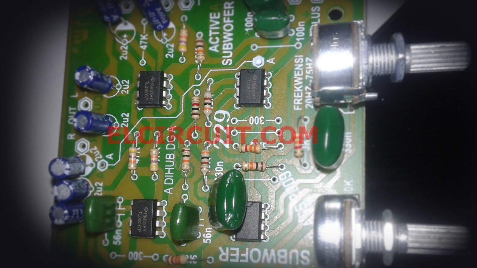 Active Subwoofer Circuit Tl082 Tl072 4558 4558d Hifi Audio Amplifier By Ic Tda2003 Electronic Projects Circuits