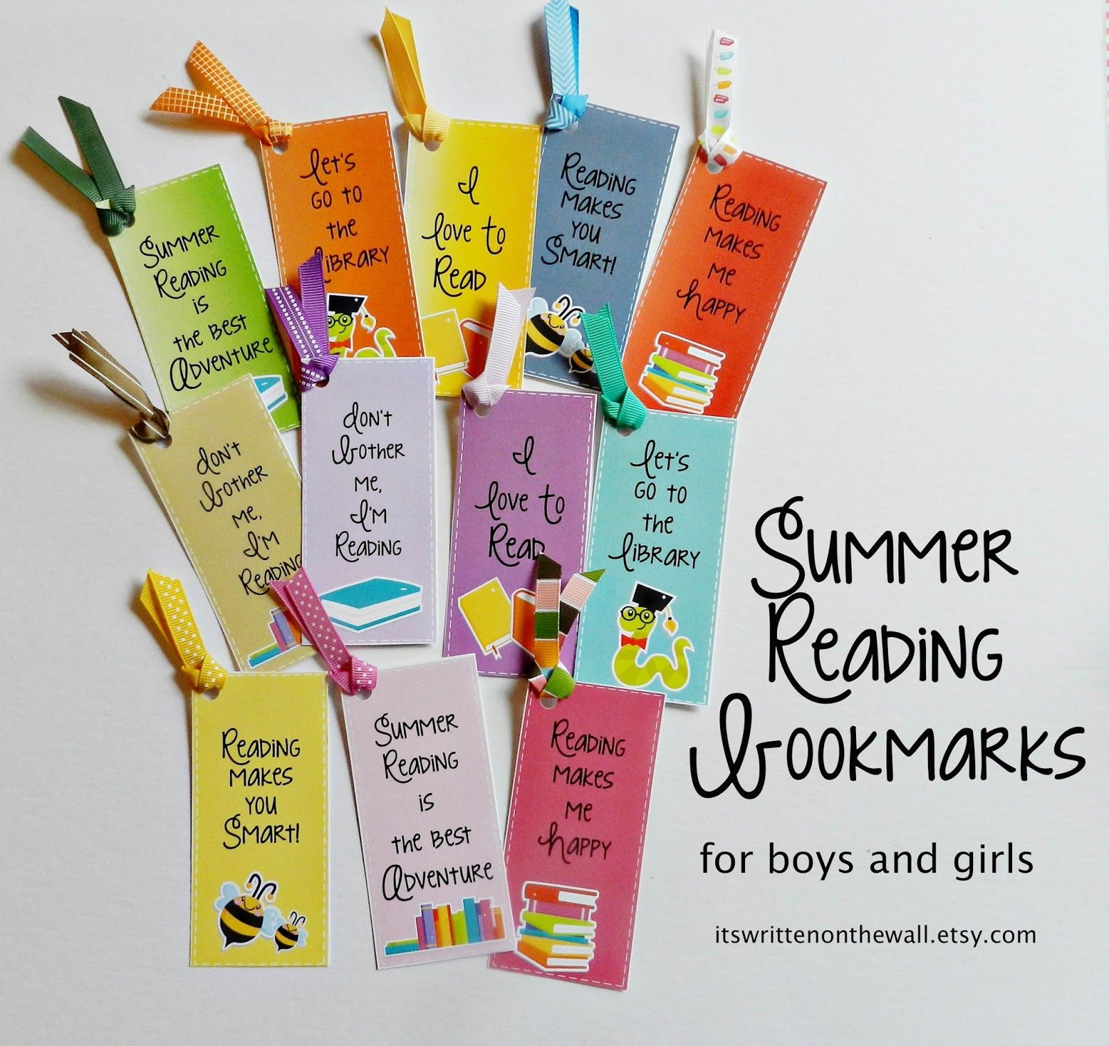 Easy way to make summer reading even more fun bookmarks How to make a simple bookmark