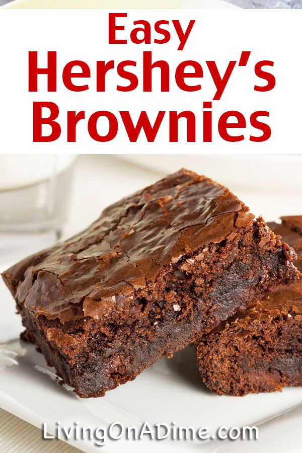 Easy Hersheys Brownie Recipe! Super Simple Chocolate Brownies