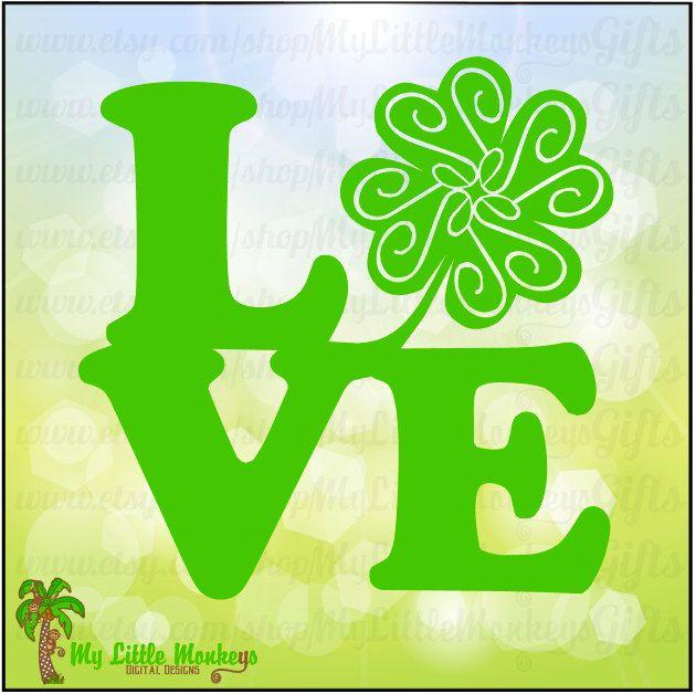 Download Love Heart Block Shamrock Design Full Color Digital File ...