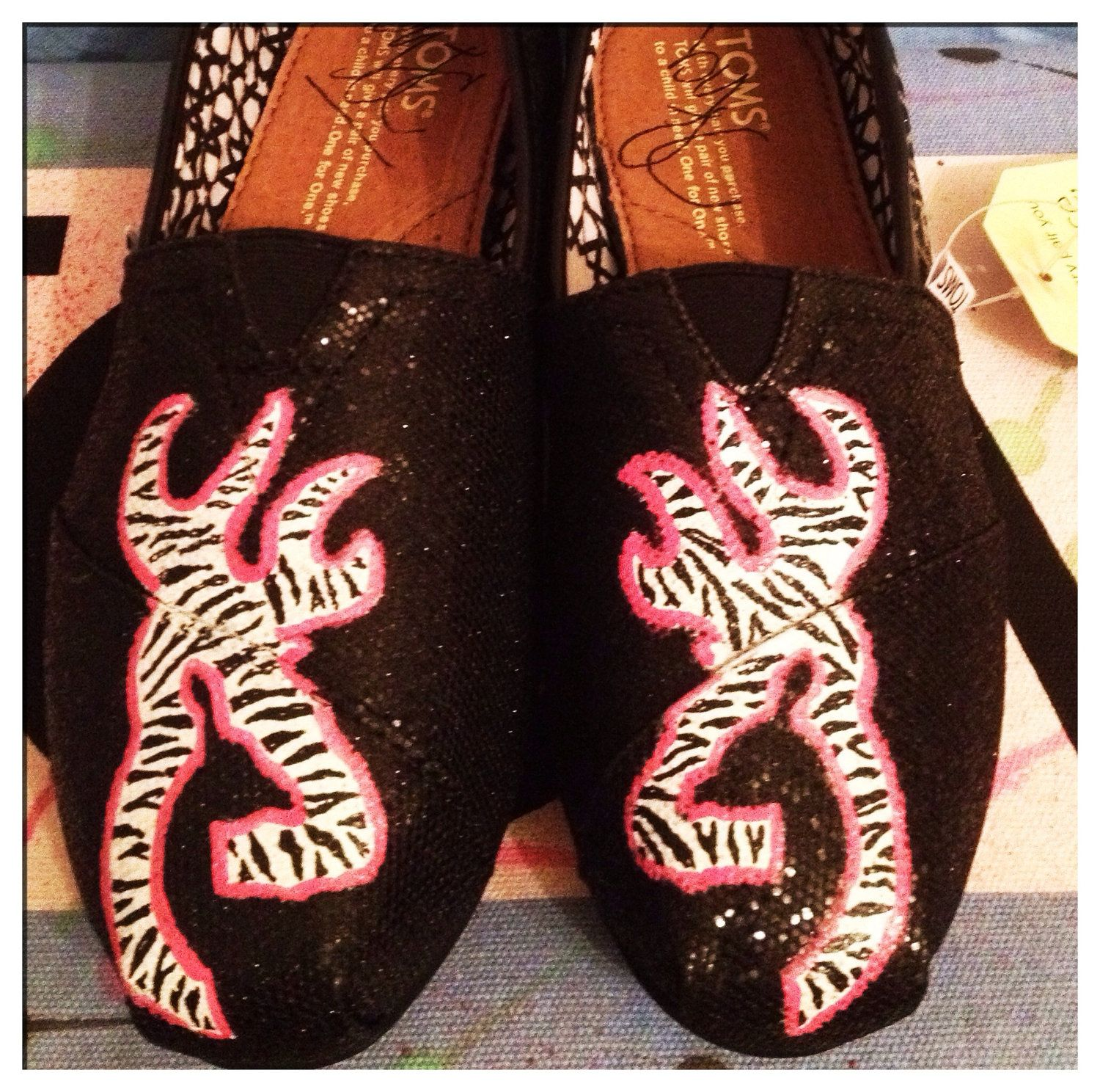 Browning Custom Toms Shoes. $95.00, via Etsy. OMG I want these shoes!!!