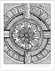 mandala spirituality art therapy coloring pages