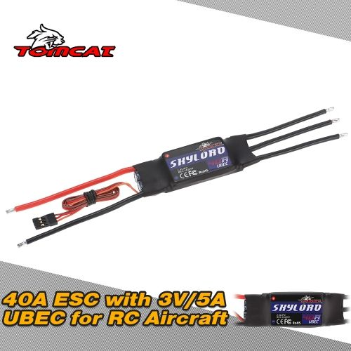 TOMCAT SKYLORD 40A 2-4S Li-Po ESC Electronic Speed Controller with 3A/5V UBEC for RC Aircraft