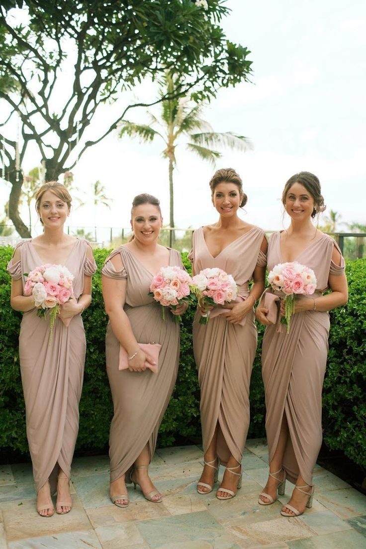 Eleni dressed her lovely bridesmaids in our exclusive dionne eleni dressed her lovely bridesmaids in our exclusive dionne dresses in latte rosy latte and ombrellifo Image collections
