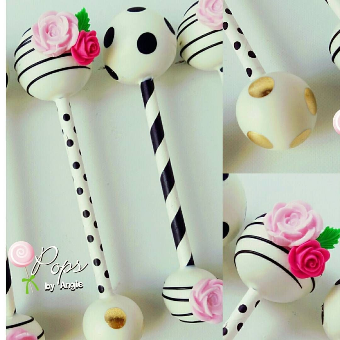 Kate Spade Themed Rattle Cake Pops For Laidys Baby Shower These