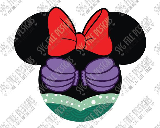 Minnie Mouse Ariel Cut File Set in SVG, EPS, DXF, JPEG, and