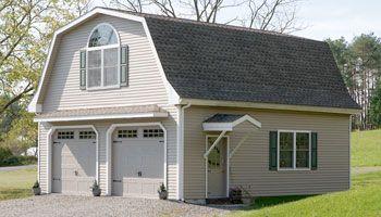 24\' x 28\' raised roof gambrel garage with 8\' overhang in New ...