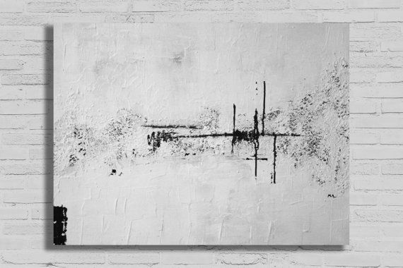 Large White Abstract Painting Abstract Painting Modern Art Extra Large Art Textured Painting Black And White Artwork Black And White Artwork Abstract Painting Black And White Abstract